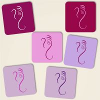 Untersetzer Kork Ganesha Design Mix-Purple Geist und Geschenk