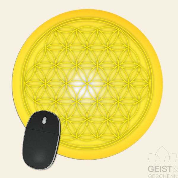 Mousepad-Blume-des-Lebens-Motiv-leuchtender-Juwel-bedruckt-1