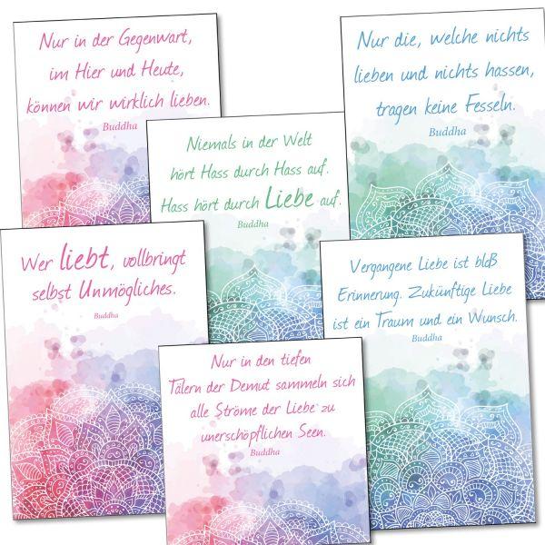 Postkarten-6er-Set-Buddha-Zitat-Liebe-bedruckt-1