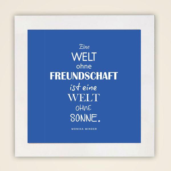 Wandbild 'Freundschaft' quadr.