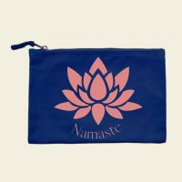 Kosmetiktasche bedruckt Canvas Namaste Lotus Geist und Geschenk