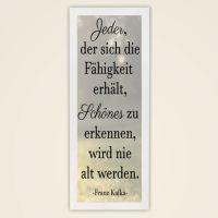 Wandbild Zitat Franz Kafka 50x20 Geist und Geschenk