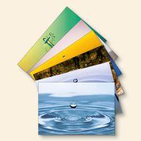 Bedrucktes Grußkarten- Set Tropfen-Mix Geist und Geschenk