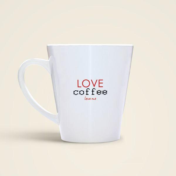 Kaffeetasse mit Spruch bedruckt love coffee Geist und Geschenk Design 2