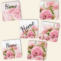 Untersetzer aus bedruckt Rosen Roses Home Geist und Geschenk Mix-Design
