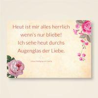 Goethe Zitat Liebe bedruckt und gestaltet
