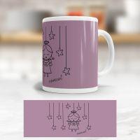 Tasse bedruckt   'Angel Innocent Purple', Geist und Geschenk, klassische Form
