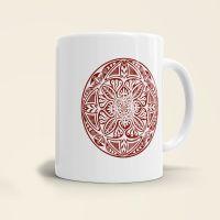 Mandala Shamanic Motiv bedruckte Tasse klassisch braun