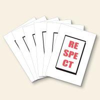 Grußkarten Set 'Respect'