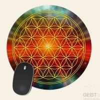 Mousepad-Blume-des-Lebens-Motiv-Universum-bedruckt-1