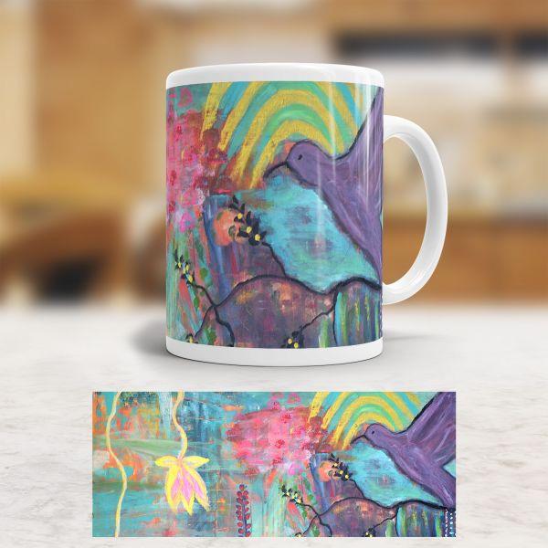 Tasse 'Kolibri und Lotus'