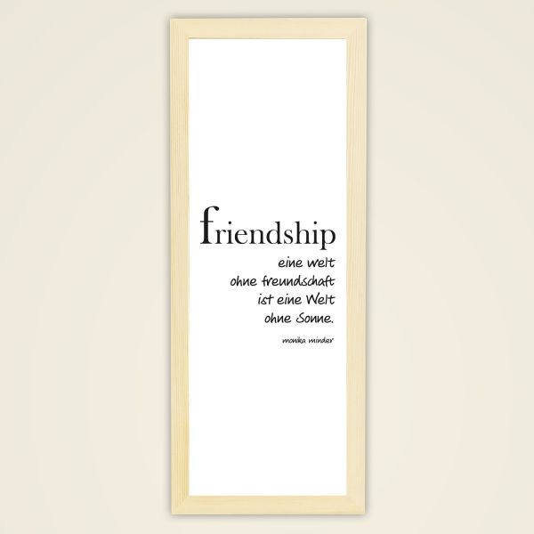 Wandbild 'Friendship'