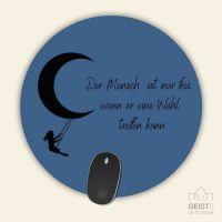 Mousepad bedruckt Der Mensch ist nur frei, wenn er eine Wahl treffen kann Geist und Geschenk