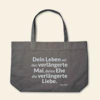Canvas Stofftasche 'Dein Leben sei der verlängerte Mai' Grau, Grau