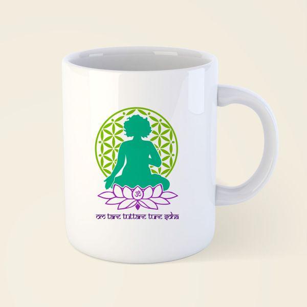 bedruckte Tasse und Becher Yogini Tara 4