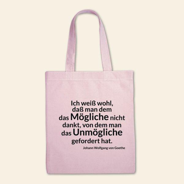 Stofftasche klassisch 'Das Mögliche danken, das Unmögliche fordern'