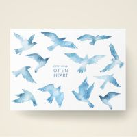 Grusskarten  Set Aquarell 'Open mind, open heart'