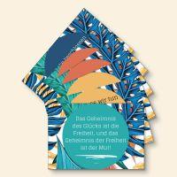 Bedrucktes Grußkarten- Set Motivation Mix Zitate Geist und Geschenk