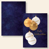 Bedruckte Klappkarte Weihnachten Geist und Geschenk