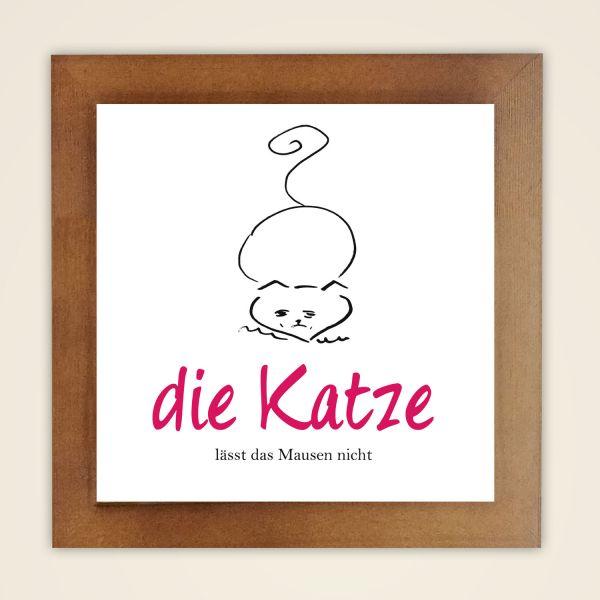 Wandbild 'Die Katze'