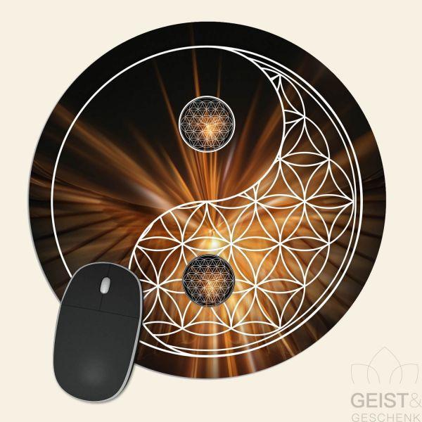 Mousepad-Blume-des-Lebens-Motiv-YinYang-Nacht-bedruckt-1