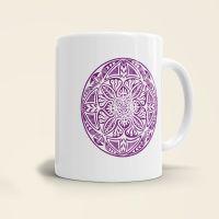Mandala Shamanic Motiv bedruckte Tasse klassisch violett