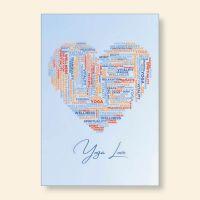 Grußkartenset bedruckt Yoga Love Geist und Geschenk