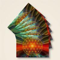 Postkarte Grußkarte Blume des Lebens Flower of Life Universum Geist und Geschenk