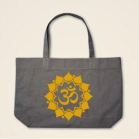 Boatshape Stofftasche grau 'Om Mandala'