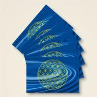 Grußkarten Postkarten Blume des Lebens Flower of Life  Talu Geist und Geschenk