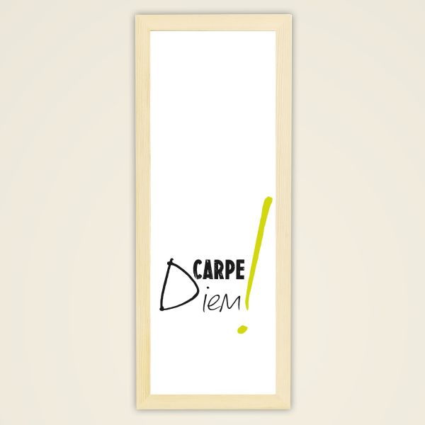 Carpe Diem by Monika Minder Holzrahmen creme