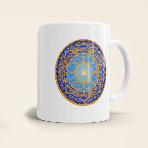 Kaffeebecher bedruckt Motiv Mandala Clarity