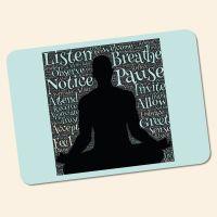 Bedrucktes 6-teiliges Tischset 'Yoga OM'  Geist und Geschenk