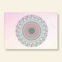 Bedrucktes Grußkarten- Set Mandala Candy Geist und Geschenk