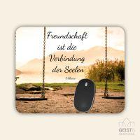 Bedrucktes Mousepad Zitat Voltaire Geist und Geschenk quadratische Form