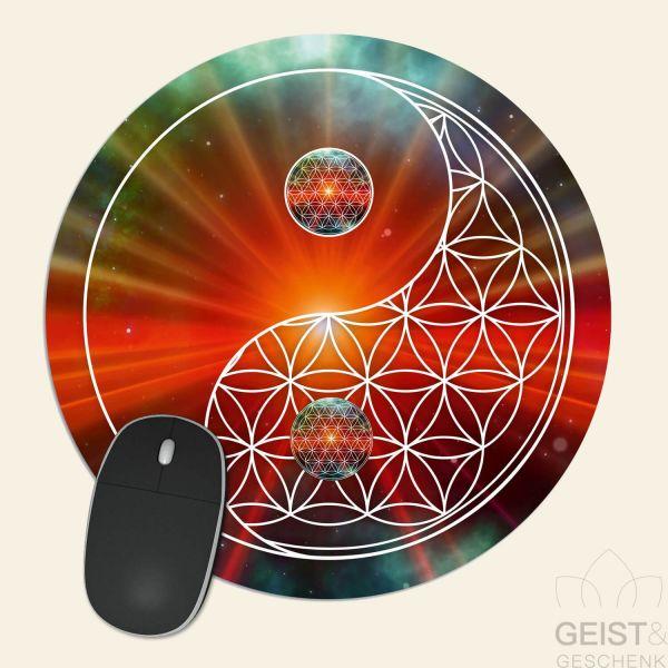 Mousepad-Blume-des-Lebens-Motiv-YinYang-Universum-bedruckt-1