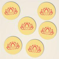 dreiblatt untersetzer bedruckt kork motiv herz lotus 6
