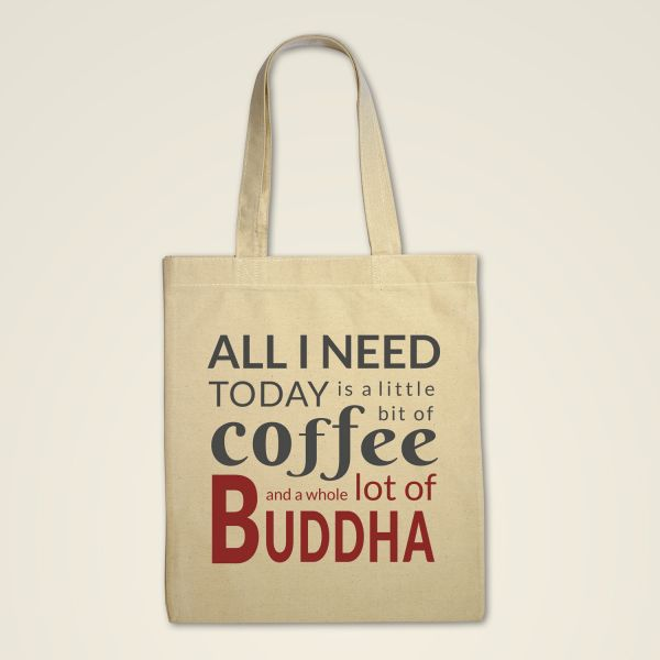 Stofftasche 'All I need today..'