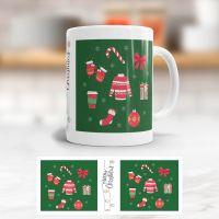 Tasse bedruckt   'Christmas Time', Geist und Geschenk, klassische Form