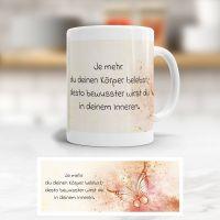 Becher Spruchc Weisheit Geist und Geschenk klassische Form