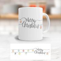 Tasse bedruckt   'Merry Christmas', Geist und Geschenk, klassische Form