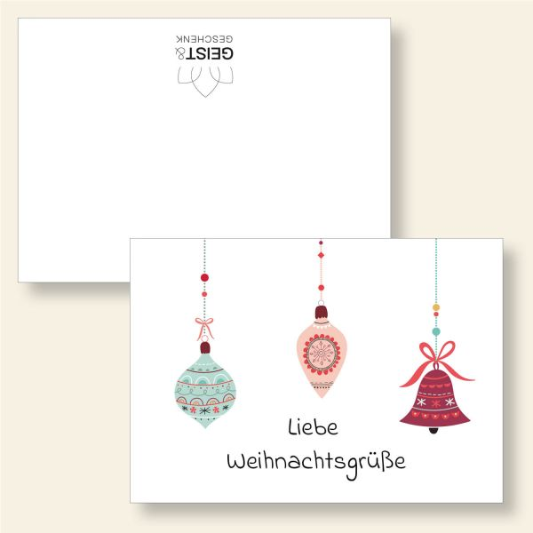 Grußkarten Weihnachtskarten Weihnachten Zeit für schöne Momente Geist und Geschenk