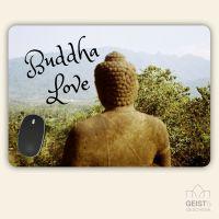 Bedrucktes Mousepad XXL Buddha Love Nature Geist und Geschenk eckige Form