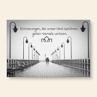 Grußkarte Postkarte Erinnerungen die das Herz berühren Gedanken Geist und Geschenk