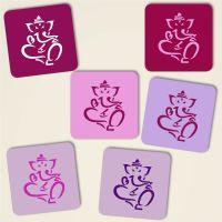 Untersetzer aus Kork Ganesha Purple-Mix Geist und Geschenk