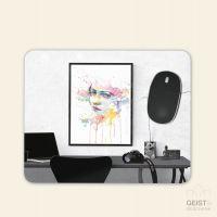 Bedrucktes MOusepad Lady Aquarell Watercolour Frame Geist und Geschenk eckige Form