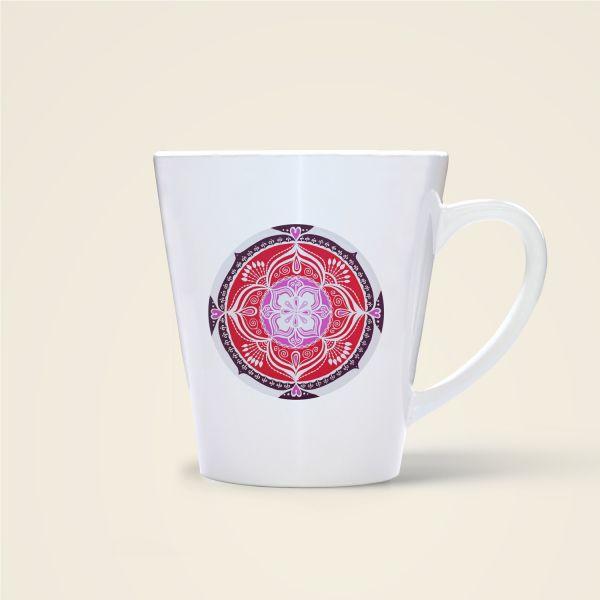 Mandala Motiv Love Tasse bedruckt Geist und Geschenk