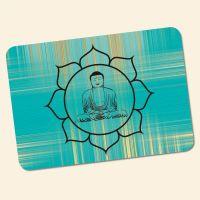 Bedrucktes 6-teiliges Tischset Buddha Gold Blue Geist und Geschenk