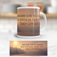 Becher Tasse mit Zitat bedruckt Monika Minder