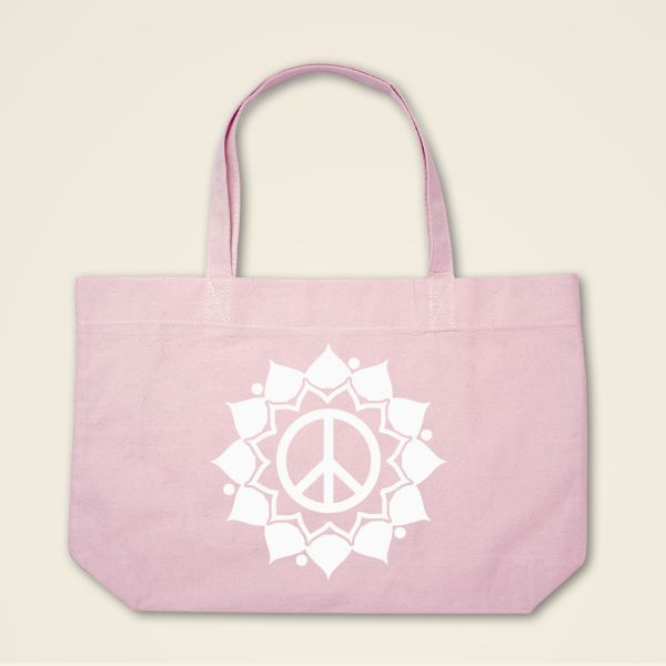 Boatshape Stofftasche rosa 'Peace Mandala'